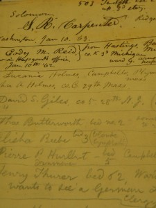 One of Whitman's hospital notebooks